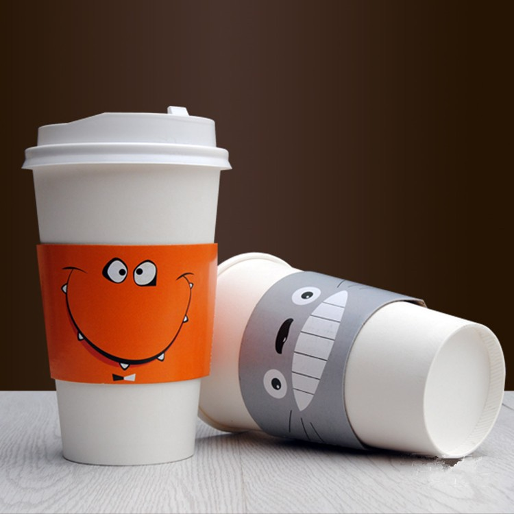 YBPC015 Cartoon paper coffee cup