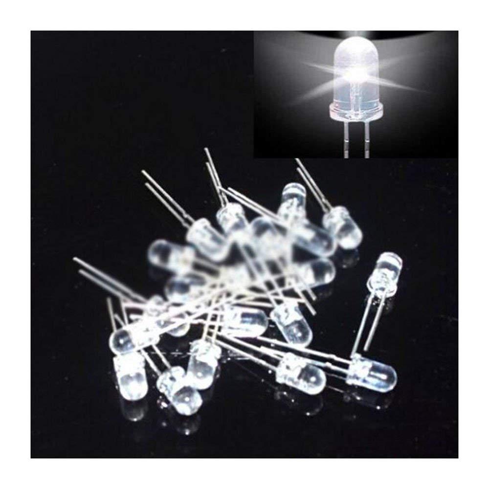 100pcs 5mm led white light bulbs/5MM White Colour LED emitting diode F5mm White LED