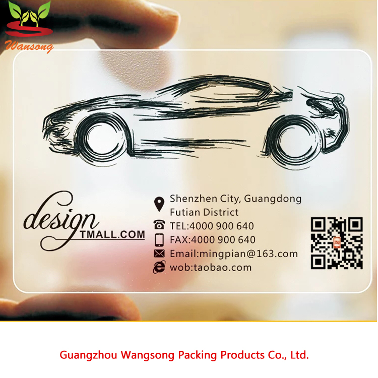 high quality clear / transparent pvc business card, VIP card with your own design