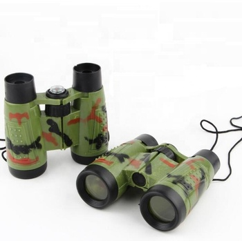 Hot selling double tube camouflage telescope / children's plastic telescope with compass / outdoor science and education toy