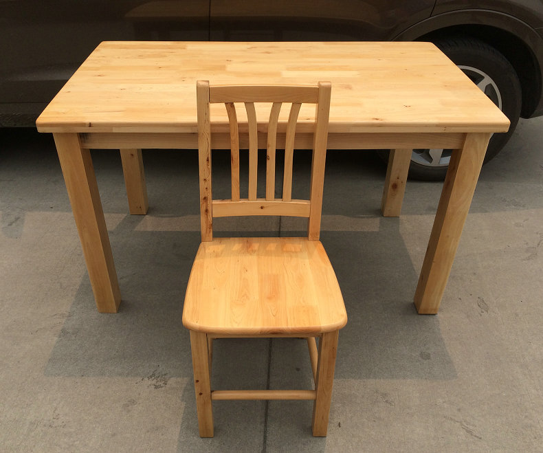 All Solid Wood Dining Tables And Chairs With Natural Wood