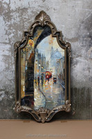 PU mirror Eco-friendly wall picture frame manufacturer ornate mirror frame wholesales