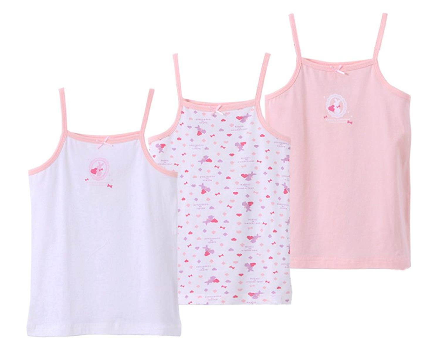 3e29022ae5d34 Get Quotations · CHUNG Toddler Girls Print Cotton Super Soft Assorted Cami  Undershirts Tank Top 3 Pack