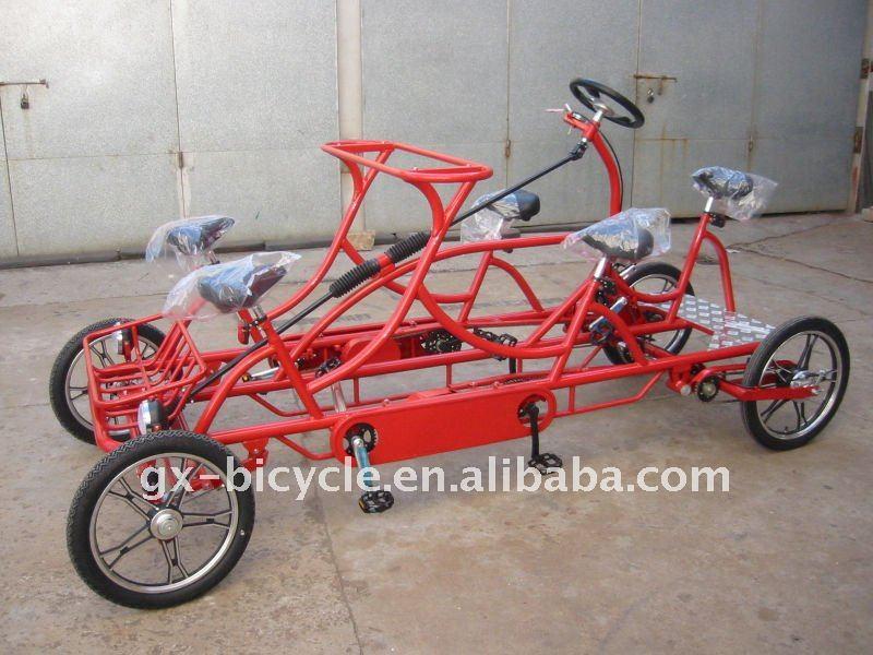 Rojo Cuatro Ruedas Surrey Bicicleta - Buy 4 Ruedas Surrey Ciclismo,5 ...