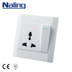 Naling New Design 10A 3 Pin One Gang PC Panel Wall Switch And Socket