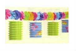 Paper Hawaiian Party Lantern Garland