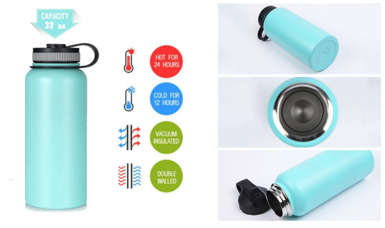 18oz 20oz 32oz 40oz 64oz vacuum flask ,40OZ Vacuum Insulated Stainless Steel Water Bottle, Outdoor Sports Camping bottle