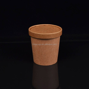 Kraft Paper Soup/Hot/Cold Food Container with lid