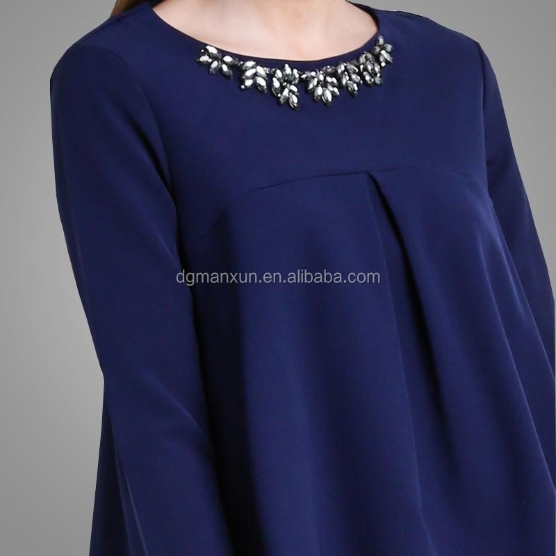 Latest Design Baju Melaju Fashion Elegant Long Sleeve Bead