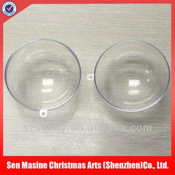 Decorative clear plastic balls container craft buy clear for Clear plastic balls for crafts
