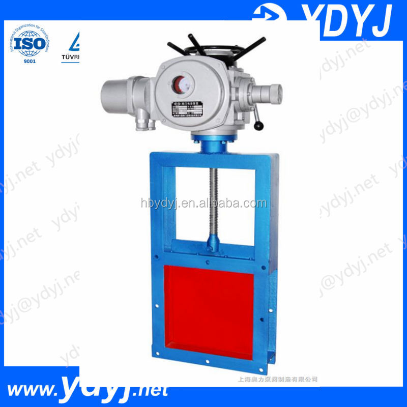 Good seal electric actuated gate valve for ash