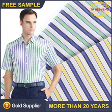 Factory Price Wholesale 100% Cotton Striped Fabrics High Quality Popular Men Suiting Woven Textiles Fabric For Shirting