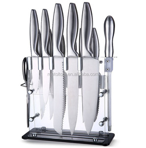 All kinds of kitchen knives 13 Piece Hollow handle Kitchen Knife Set