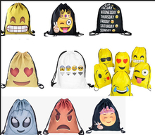 Hot Sale New Design Emoji Wholesale Shopping Bag Drawstring Backpack