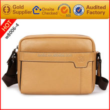 alibaba supplier genuine leather small school bag side bags for men made in china