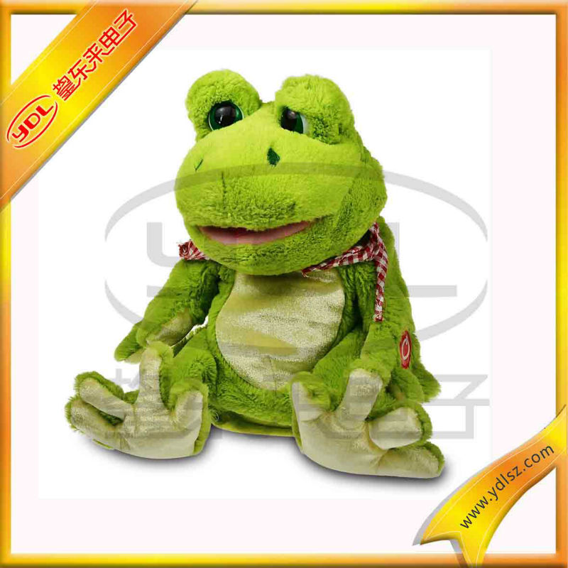 plush frog doll toy with music