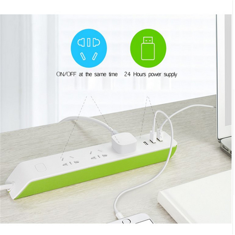 BroadLink MP2 Smart Power Strip WiFi Socket Plug Remote Control 3 Outlet 3 USB with best price
