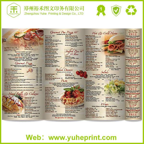 Hardcover Restaurant Menu Prices