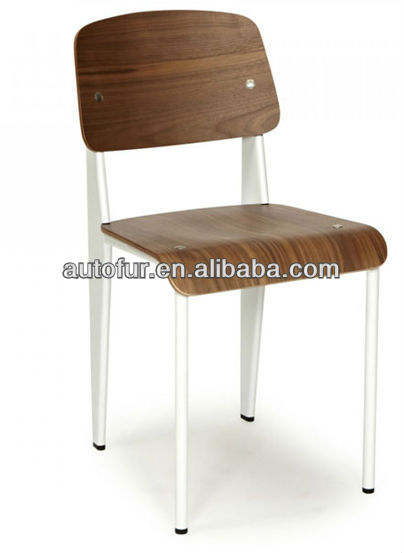 Modern Wooden Jean Prouve Standard Chair Dining Chairs