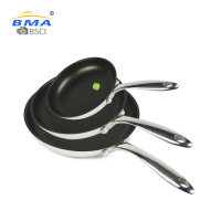 kitchen cookware stainless steel non stick fry cooking sets non-stick frying pan