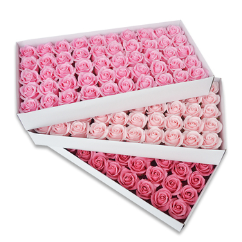 Wholesale new artificial soap silk rose flower head for gift box shop supplies