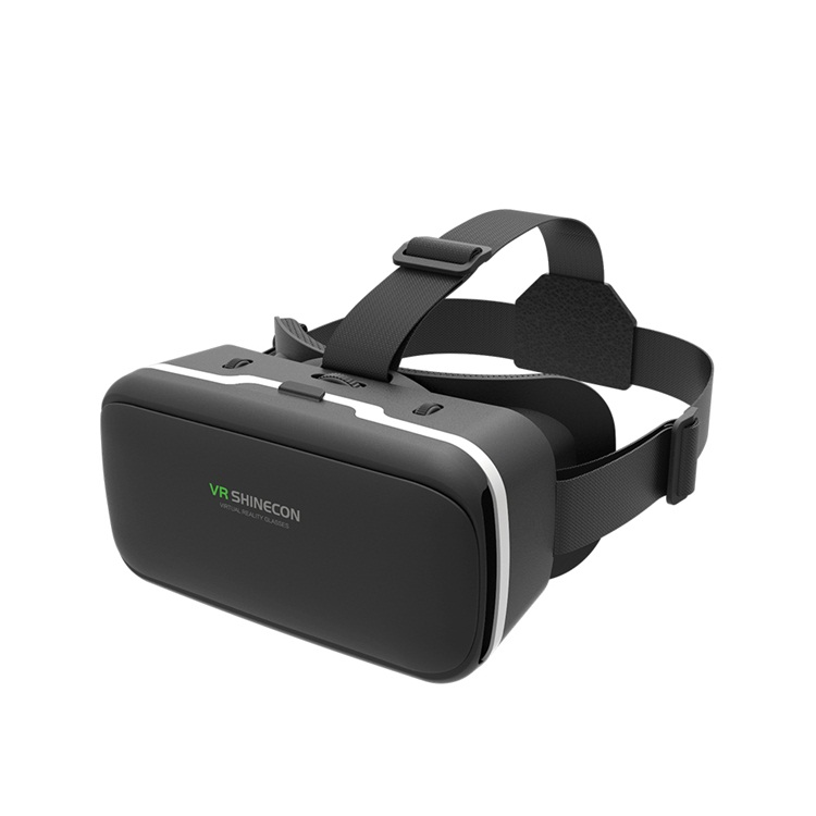 2019 VR Shinecon OEM service factory price VR 3d Glasses and virtual reality headsets for 3D games and movies, Black