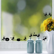 P2054 Furnishings wall stickers cartoon decoration glass stickers free shipping ant on Mirror Window Stickers Home