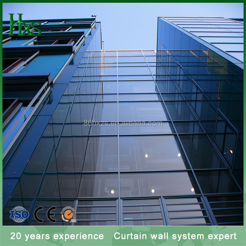 One stop solution exterior Low-E Glass Thermal Insulated Curtain Wall