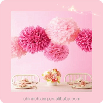 Newest Paper Decorations Flowerpompoms Birthday Party Decorations