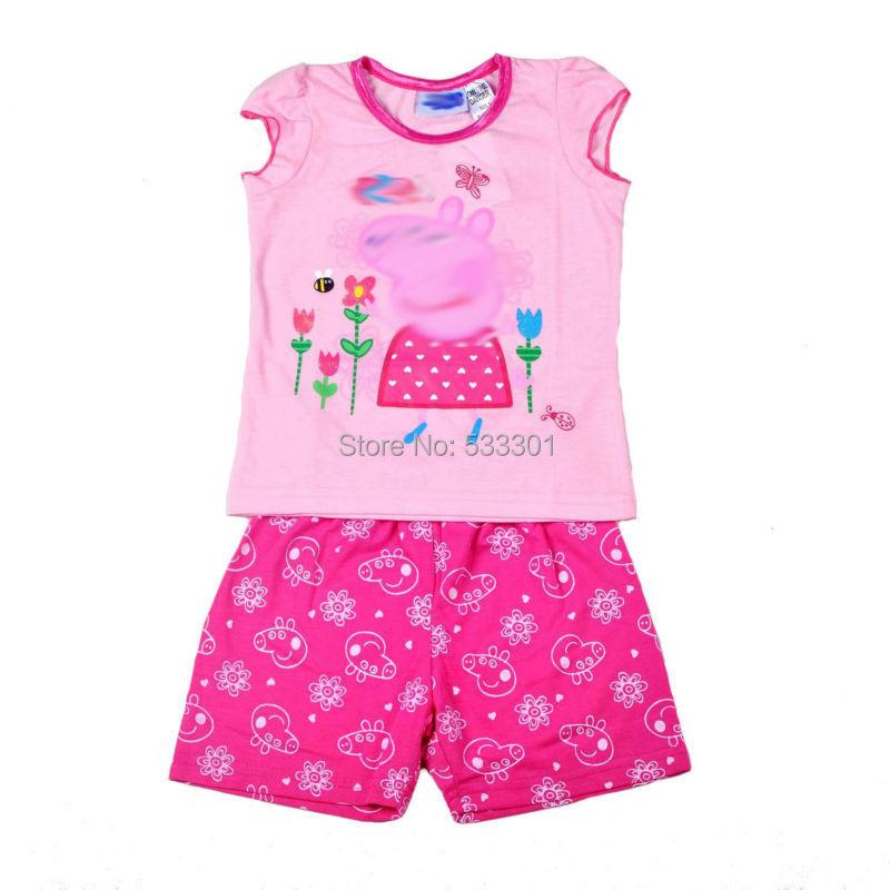 24264ad76d Get Quotations · 2015 Summer baby Girls Pyjamas Pjs sleeveless cotton top +  short pant 2pcs Clothes Girls Pajamas
