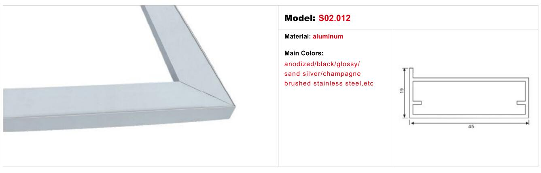 Rahmenlose Glas Türrahmen Profil Aluminium Küche Profil - Buy ...