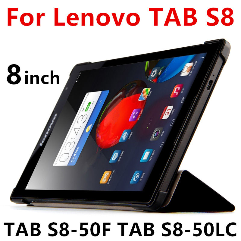 purchase cheap d5b60 3cd36 US $8.81 5% OFF|Case For Lenovo TAB S8 Protective Smart cover Protector  Leather Tablet For TAB S8 50F TAB S8 50LC 8 inch PU Sleeve Case Cover-in ...