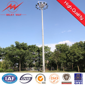 over 40m High Mast Light Pole with lifting system