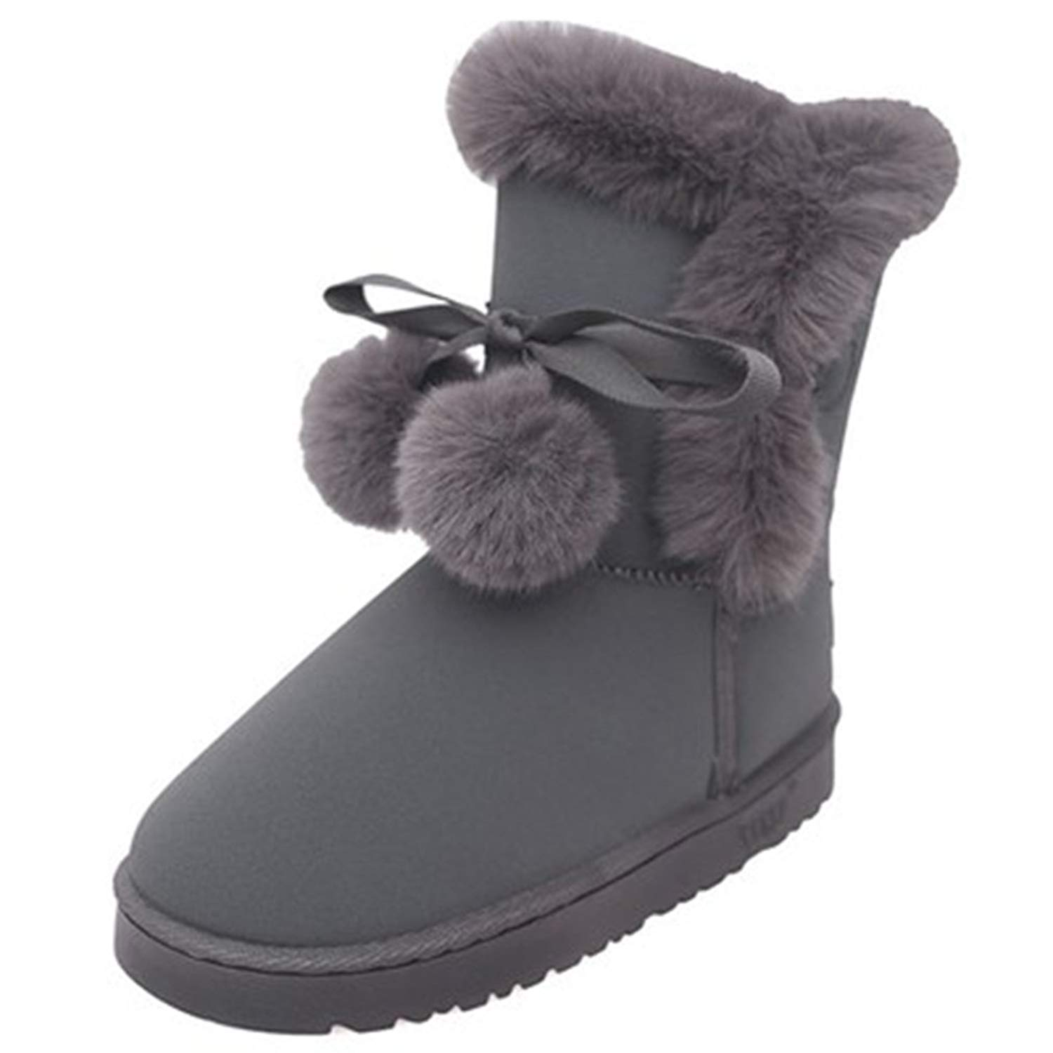20c8bab4de3 Puma City Snow Boot Fur Womens Leather Boots   Shoes - Black. GIY Womens  Arctic Cute Warm Snow Boots Mid Calf Wide Calf Waterproof Suede Fur Lined  Outdoor ...