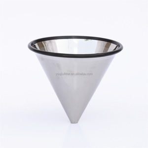 2 cups stainless steel cone dripper coffee filter pour over coffee filter mesh reusable coffee dripper for family and office