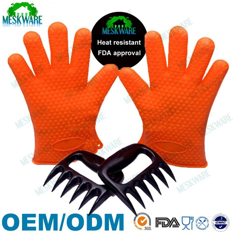 NO.1 HOT selling BBQ Gloves and Bear Claw Meat Shredder