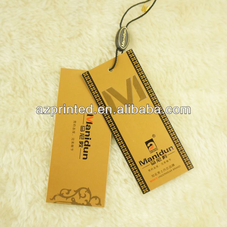c52778b57f4972 new arrival unique branded hang tag with customer's logo UV printed for  garment,elastic cord clothing tag