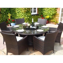 Rattan Garden Furniture 4 Chairs Round Table Dining Set Furniture