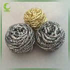 kitchen stainless steel spiral scourer/galvanised wire mesh scrubber/brass metal cleaning ball