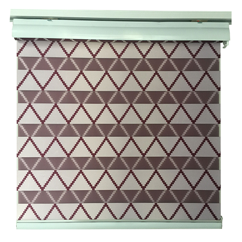 Custom horizontal window shade blind zebra dual roller blinds treatments