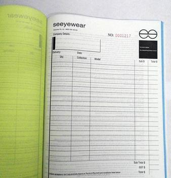 custom carbonless bill receipt book printing courier receipt buy