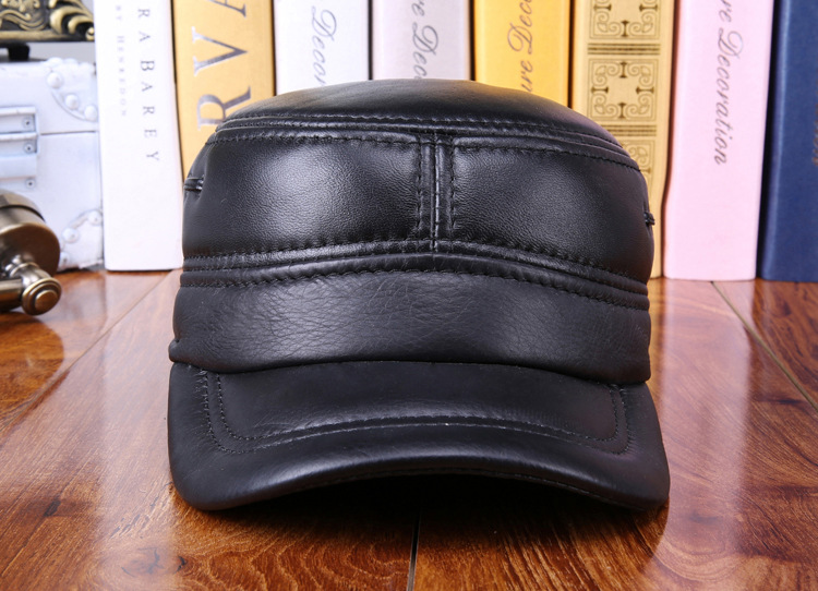 6000de4002ed5 Detail Feedback Questions about Men s leather hat warm winter sheep ...