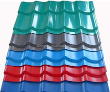 SGCH SGS sea blue/white/red color small wave corrugated steel sheet for roof and wall