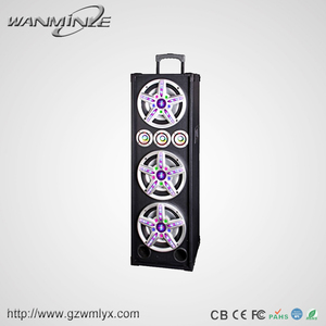 "Triplicate 10"" Wireless Trolley Speaker 40~20KHz Response Frequency Woofer Loudspeaker 240W Active Audio Sound System"