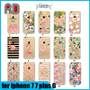 Soft tpu phone case cover lovely flamingo design 3d printing case for iphone 7 plus 7 6 6s plus 5 SE