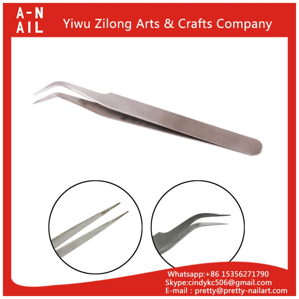 New Acrylic Tweezers Gel Nail Art Paillette Forceps Cuticle Nipper Picking Tools Cuticle nipper