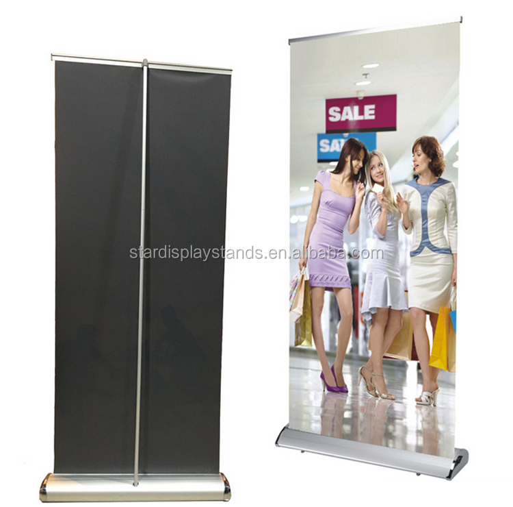 good quality aluminum wide screen roll up banner teardrop banner stand