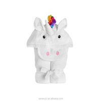 Beautiful Adult Unicorn with rainbow mane Baby hooded towels for kid Gift HDT-061 China factory