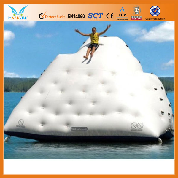 Funny inflatable crazy water pool toys/water iceberg/inflatable pool iceberg iceberg float