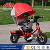 2016Children Metal Frame Tricycle / New 3 in 1 Baby Tricycle With Canopy And Pushbar/ Kids Tricycle Pedal Car for 1-6 years Sale